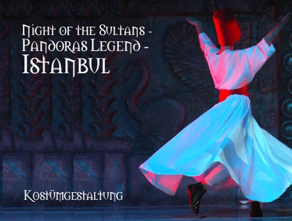 Traditionskostüme für die legendäre Tanzshow Night of the Sultans